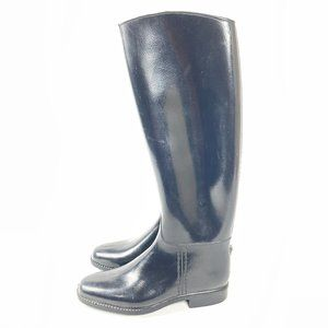Equestrian Tall Lined Rubber Riding Boots Size 9